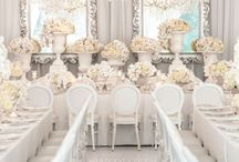 White Wedding Theme / Are you a traditionalist when it comes to your wedding day? Find all things pure and white here:)
