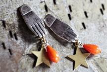 { handmade : brooch & earing }