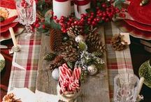 Holiday Decor Festive & Fabulous / Holiday decorations, table settings
