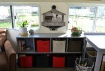 The Cart: Studio 2014 / I live and work in a tiny house on wheels. It's an RV/ travel trailer/ caravan. I'm in the process of remaking/ remodeling/ redecorating it to suit my whims. This is what my little art studio home looks like so far.