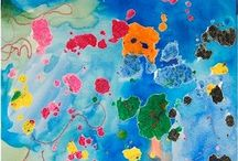 Liquid Watercolors / Dye salt, dry pasta, playdough, shaving cream, vinegar... / by Neligh Ust
