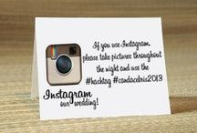 INSTAGRAM your Wedding! / Check out my blog for how to instagram your wedding! Ideas on how to tell your guests here!:) http://nataliebriggs.blogspot.com.au/2014/02/how-instagram-your-wedding.html