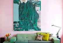 Mint Green and Pale Pink Rooms