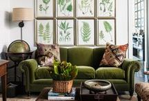 Green / Whether you love glamorous emerald green, fun aquas, or invigorating grass greens, there is something for everyone!  Check out our homage to all things green in the home!