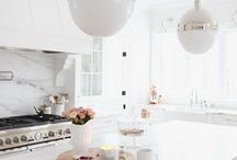 Kitchen Decor / Kitchens to dream about...and make your own! Bathrooms that will make you want to sink into a tub full of bubbles.