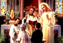 "Sacraments: Holy Matrimony, Catholic Weddings, and the Wedding Feast of the Lamb / Marriage in the Catholic Church is a Sacrament: that which is made Holy, the means by which one receives God's grace, & assent to His will. It's not one mere aesthetic choice among many, and it's more than just a ""church wedding"" (as if the Church were just a ""venue"" like any other). The Catholic Church is the Mystical Body of Christ, built through, with, and in Communion with Him. In planning your wedding, your conduct and the way you approach your ceremony and marriage should reflect that. / by Sursum Corda ..."