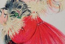Vintage/Retro Cats and Kittens