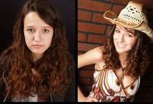 Before & After Teens / Samples of Glamour Shots before and after teenager photography!