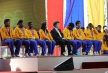 Homenaje a nuestros medallistas olímpicos.
