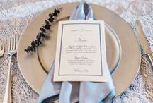 Wedding Menus / Wedding and Event menus, custom wedding day stationery.  For more information and inspirations, visit: www.MaylaStudios.com  #MaylaStudios