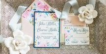 Spring Wedding Invitations and Inspiration / Bespoke wedding invitations and custom designed wedding day stationery