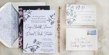 Summer Wedding Invitations and Inspiration / Bespoke wedding invitations and custom designed stationery
