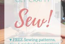 Get Crafty   Sew! / Here's a board for FREE sewing patterns from around the web! ↓