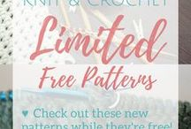 Knit & Crochet   Limited Free Patterns / Here is your one stop shop for all knitting and crochet limited free patterns! Note: These deals are time sensitive! Be sure to follow my board so you can snag these deals when they come up!