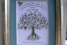 Family Tree Artwork Ideas / Gorgeous Paper Cut Family Trees  - A great way to display your heritage.  These make really lovely presents for grandparents.