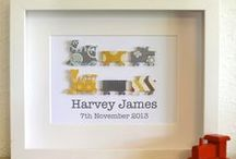Boys Personalised Paper Art / Personalised Baby Boys Gifts