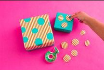 Gift Wrapping + Toppers / All the supplies you need to wrap gifts with inspiration.