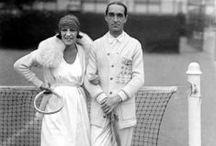Sporting women and vintage sportswear