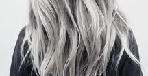 Hairstyle Spotlight 2018: Silver Hair / Check out our hairstyle spotlight for 2018, undone & tousled hair! Read more over on our blog at: www.sdhair.co.uk/hair-trend-2018-silver-hair/