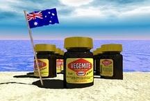 aussie TUCKER / australian food, tucker recipes... Meat pies, sausage rolls, pavlova, lamingtons, vegemite, pasties / by Tellylin