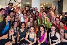 "Team Style Ride / I hosted a social fitness event to spin Mizzfit readers and followers into summer called ""Team Style Ride"". It all went down at Swerve Fitness with over 50 extraordinary women breaking a sweat together and networking afterwards. It was a sweaty good time!"