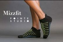 Mizzfit Barre Socks / Check out these rad BARRE FITNESS SOCKS I designed with Pointe Studio. I was tired of paying $16/pair at barre studios for grippy socks that weren't cute or stylish. So instead of complaining, I teamed up with Pointe Studio to design this multi-pack for $20. You get 2 pairs of socks for a lot less than you'll pay at most barre studios! Hope you like 'em :)