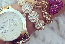Arm Jewlery / Watches bracelets. Watches and bracelets stacked together. Love that look. Arm candy!! / by Melissa May