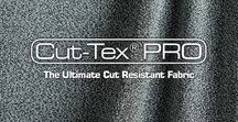 Cut-Tex® PRO Cut Resistant Material / Cut-Tex® PRO is an ultra-high performance cut and slash resistant fabric - offering the highest level of cut, abrasion and tear resistance - according to the British and European BS EN 388:203 Standard.