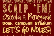 Garnet and Gold / Florida State is my alma mater... I'm a 'Noel girl forever! / by Morgan Elise Tredo