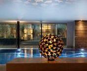 Indoor sculpture and water features