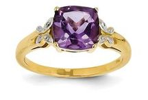 Amethyst Jewelry / 14K Gold Amethyst Jewelry