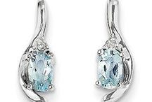 Aquamarine Jewelry / 14K Gold Aquamarine Jewelry
