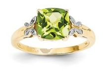Peridot Jewelry / 14K Gold Peridot Jewelry