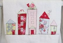 Card Inspiration New Homes / Ideas for hand & machine stitched cards using scrapbook paper,fabric, card, & trimmings / by Jill Parker