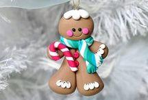 Christmas - Polymer Clay Fimo / Weihnachten, Weihnachtsdeko, Weihnchtsgeschenke aus Fimo, Polymr Clay oder Sculpey - DIY oder zum Kaufen