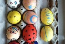 Bunny Eggs / Easter ideas. We got a bunny and he is going to be a major feature in our Easter celebration.