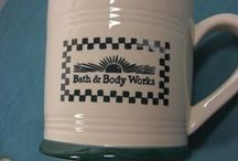 """Bath & Body Works at Home / In the 90's, Bath & Body Works had """"At Home"""" stores that sold an array of household products, such as dishes and candle holders. Eventually the stores became the White Barn Candle Co."""