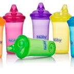 Sippy Cups / Here at Nûby™ we have created and developed a range of no-spill cups that promote natural healthy drinking through all the stages. The patented system encourages your child to use a natural drinking action that helps to naturally develop their soft palette and is kind on new teeth. The unique soft silicone spouts and straws are easy to use, easy to hold and easy to clean.