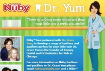 Recommended by Dr. Yum / Nûby™ has partnered with Dr. Grace Yum, to develop a range of teethers & pacifiers perfect for your little one!  Dr. Grace Yum is the founder of Yummy Dental & Orthodontics for Kids in Chicago.
