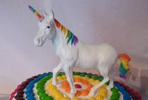 Many years of Rad /  Rad Mad birthday board: 1st - Rainbows & unicorns 2 - Farm