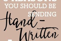 Handwriting Letters / The lost art of handwriting letters