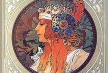 Art nouveau in Prague_Alphonse Mucha / Czech declination of the Art Nouveau style: Alphonse Mucha, 1860-1939, Ivančice-Praga