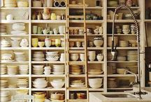 Country Kitchens / I'm always looking for new ways to renovate our Lake House kitchen.  It's got great open space but I need ideas.  It's in the woods and very rustic.  We have Ponderosa Pine upstairs and hope to have it down in the kitchen. / by Johnette Warner