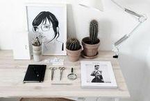 •Déco bureau • Ideas for the office • / Inspiration déco pour le bureau