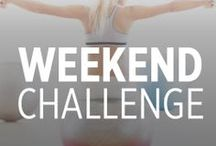 WH Weekend Challenge / Work these exercises into your weekend routine to get more fit by Monday / by Women's Health Magazine