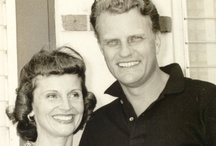"""Ruth Graham and Billy Graham / On August 13, 1943 the two were married in Montreat, North Carolina and lived there in a log home that Ruth designed. Billy became the spiritual advisor to presidents  and his growing popularity made him create the """"Billy Graham Rule"""" which meant that he would never let himself be alone with a woman other than his wife. They went on to have five children, nine grandchildren and twenty-eight great-grandchildren. Ruth passed away in 2007."""
