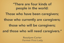 Caregivers / Too often family and friends are unaware and barely know what a family caregiver goes through. The mental anguish alongside the daily logistics and physical work involved with taking care of a loved one requires great strength of character, devotion, patience, a sense of humor and a lot of love to fulfill this task.  This board is for all of those that give back to others, and that care for those in need. You are not alone.