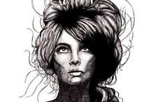 Illustration with Hair  / Stunning girls with long lushes locks, illustrated by Creative Stace