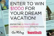 "Women's Health & Go RVing Ultimate Dream Summer Vacation / Create your own ""Women's Health & Go RVing Ultimate Dream Summer Vacation"" board for the chance to win $1000 toward your dream summer vacation! Get details here: WomensHealthMag.com/UltimateSummerVacationSweeps"