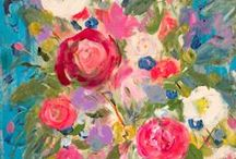 Flowers in Art / Beautiful art inspired by flowers.
